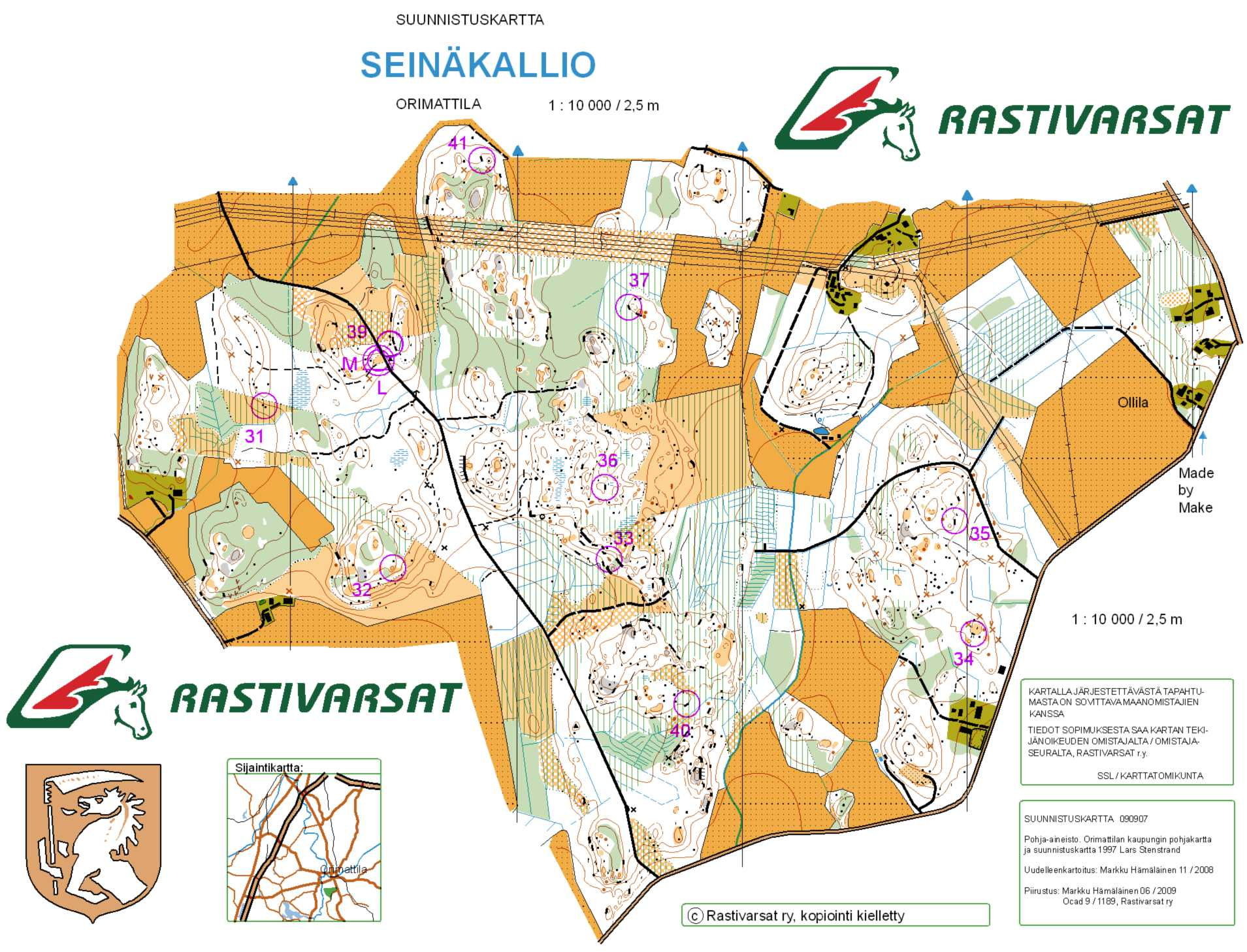 Tapaninsuunnistus Seinakallio December 26th 2011 Orienteering