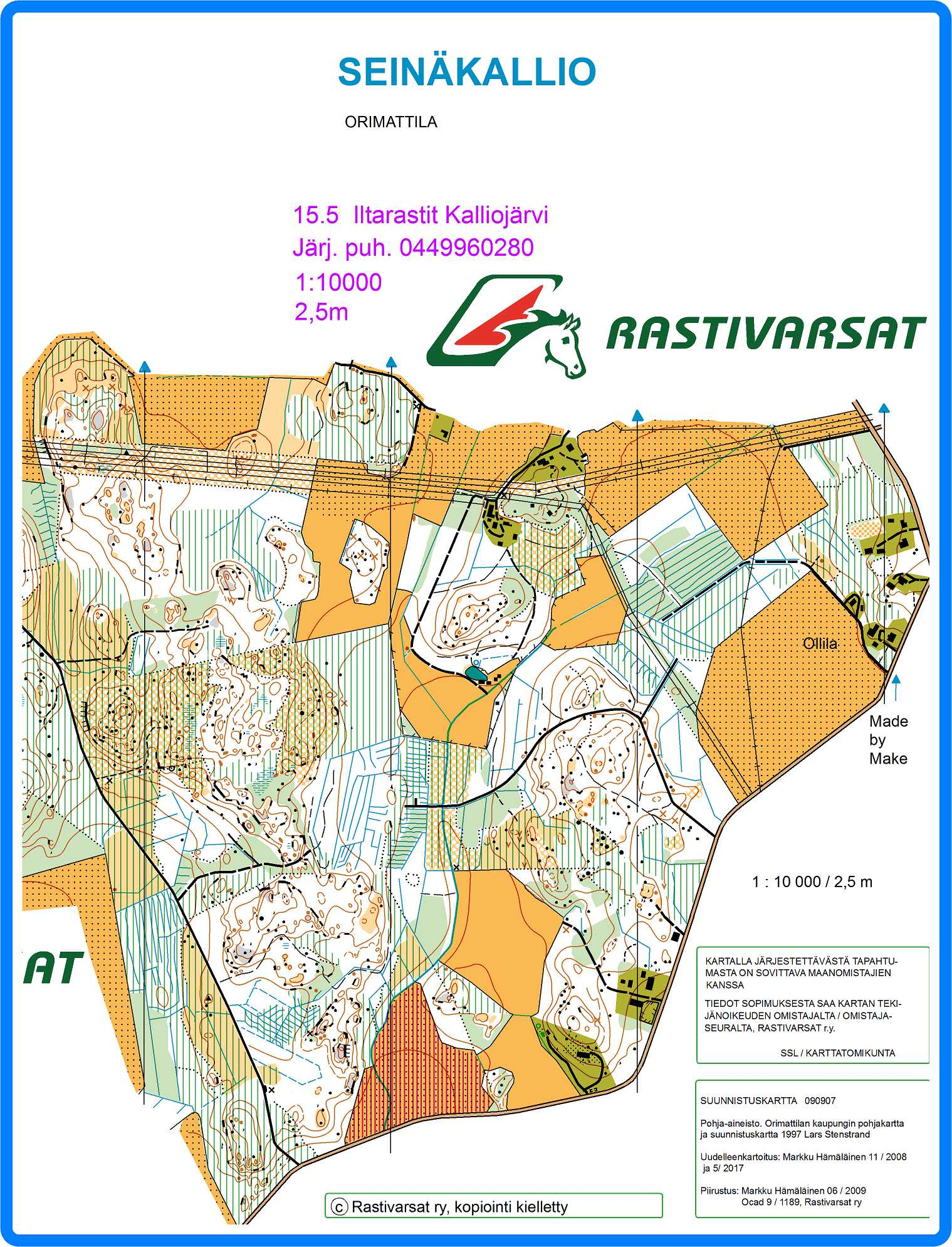 Seinakallio Orimattilan Iltarastit May 8th 2017 Orienteering